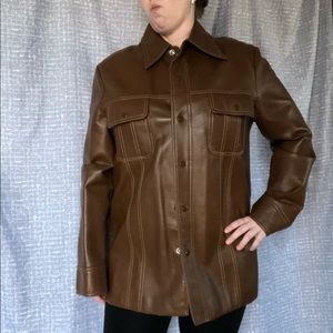 Sears Pleather trench coat